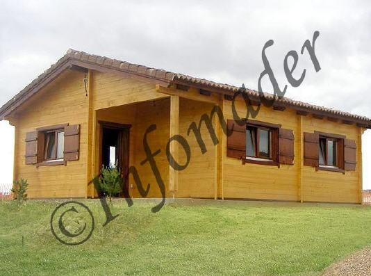 Casas de madera vanessa 56m2 - Infomader casas de madera ...