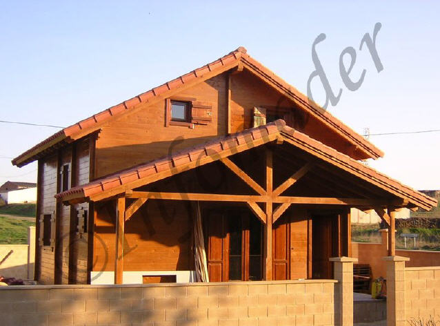 Casas de madera sonia 106m2 - Infomader casas de madera ...