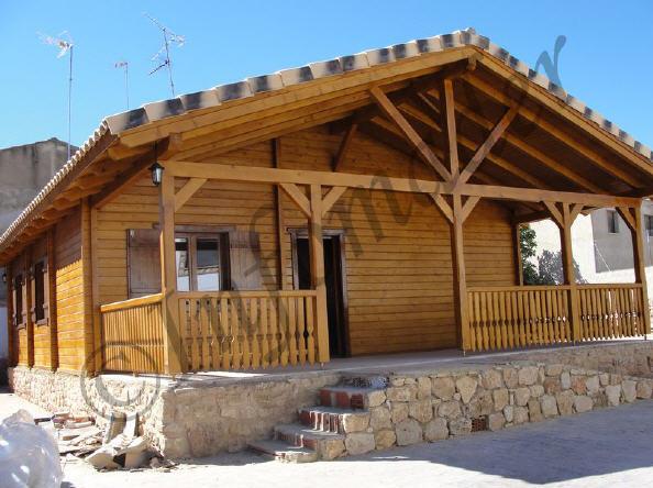 Casas de madera carmen 95m2 - Infomader casas de madera ...