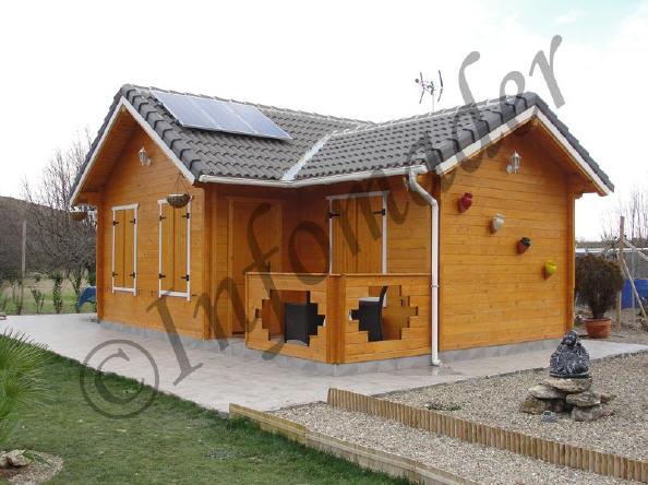 Casas de madera minerva 50m2 - Infomader casas de madera ...