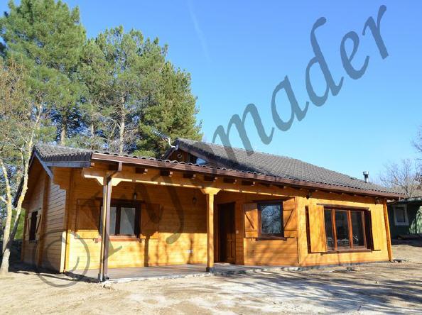 Casas de madera adriana con porche - Infomader casas de madera ...