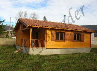 Casas de madera andrea 72m2 - Infomader casas de madera ...