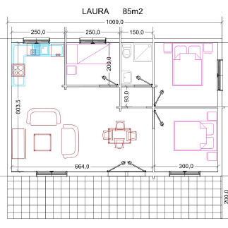 Casas de madera laura 84m2 - Infomader casas de madera ...
