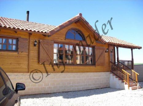 Casas de madera casandra 100m2 - Infomader casas de madera ...
