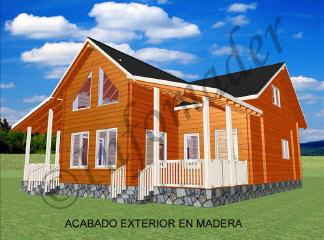 Casas de madera claudia 188m2 - Infomader casas de madera ...